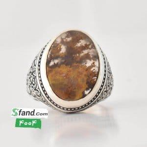 انگشتر دست ساز شجر پاییزی رکاب نقره ۴۰۰۴