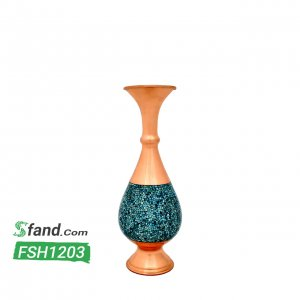 گلدان فیروزه کوبی صراحی سایز ۳