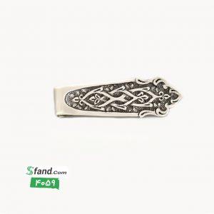 گیره کراوات دست ساز قلمزنی نقره اسلیمی ۴۰۵۹