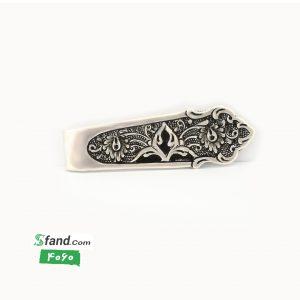 گیره کراوات دست ساز قلمزنی نقره اسلیمی ۴۰۶۰