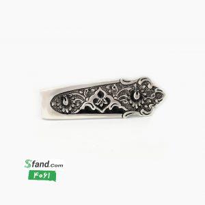 گیره کراوات دست ساز قلمزنی نقره اسلیمی ۴۰۶۱